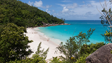 Anse Georgette on Praslin - every island has its own character