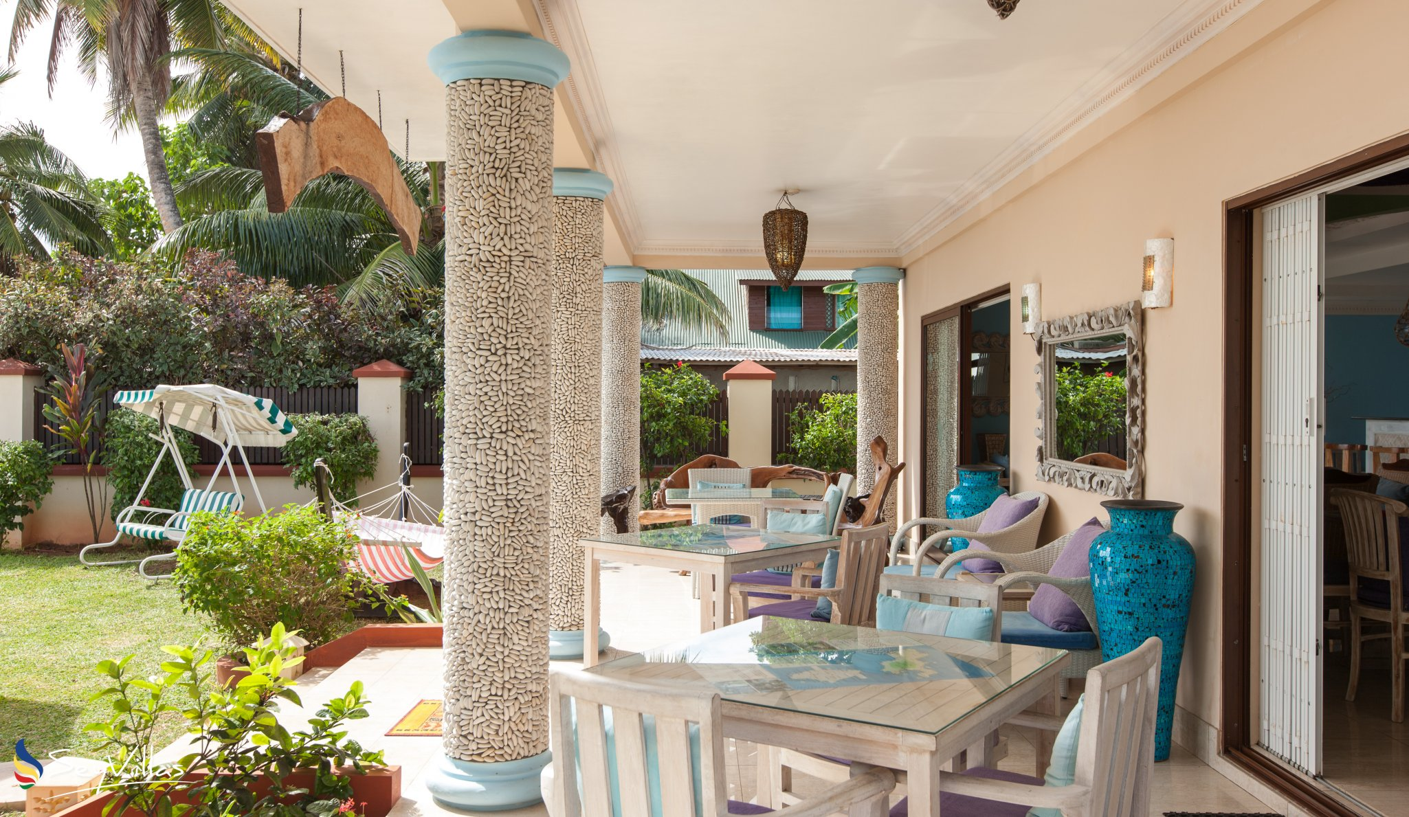 """Small Hotel """"Le Relax Beach House"""" Auf La Digue"""