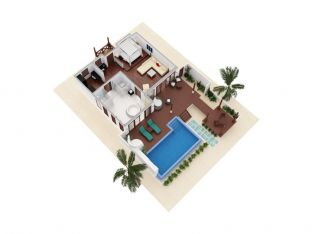 King Deluxe Beachfront Pool Villa
